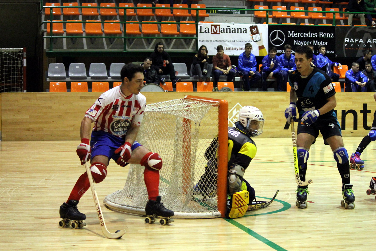 ok Liga 2015/2016 8ª jornada ICG Software Lleida y Hockey Global Clube Patin Cerceda