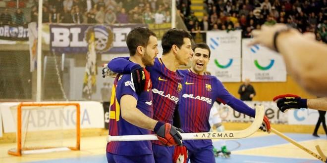 El Barça ofrece los trofeos.