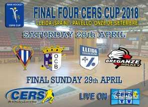 Horarios oficiales para la Final Four de la Copa CERS