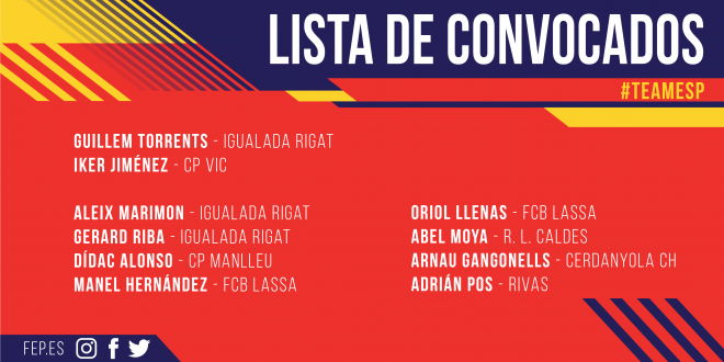 Jordi Boada comunica la lista de convocados para el Campeonato de Europa Sub-17