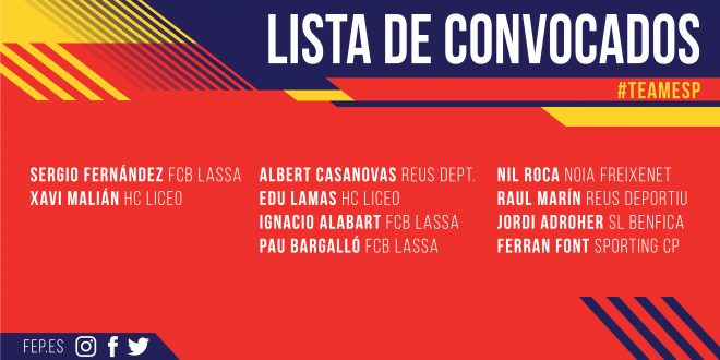 Alejandro Domínguez anuncia la lista de convocados para el Campeonato de Europa
