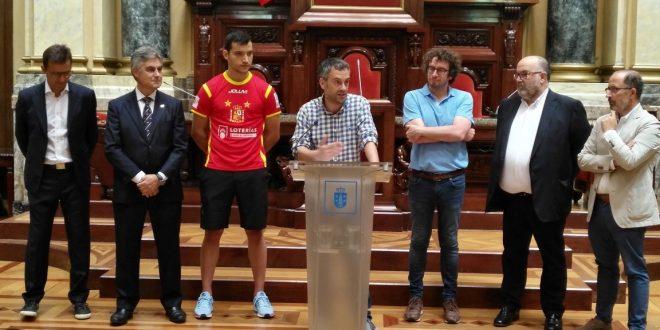 Recepción Ayto A Coruña Selección Española de Hockey a Patines