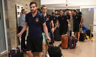 La selección española llega a A Coruña y ya prepara el debut del sábado