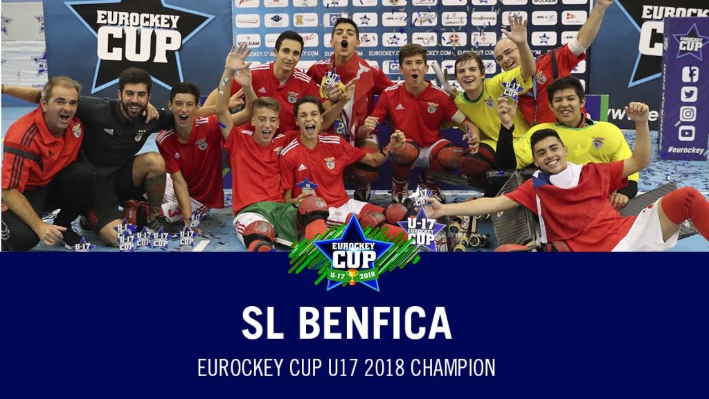 SL Benfica, campeón de la Eurockey Cup U17 2018