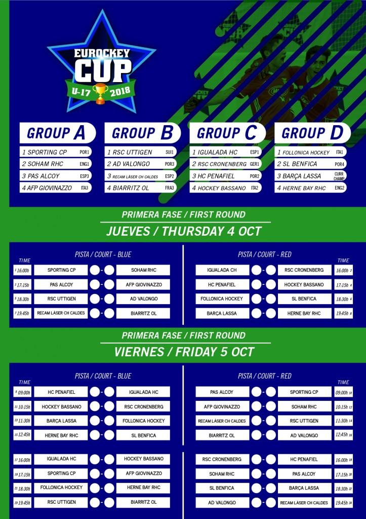 CALENDARIO: EUROCKEY CUP U-17 (4-10-18  AL  7-10-18)