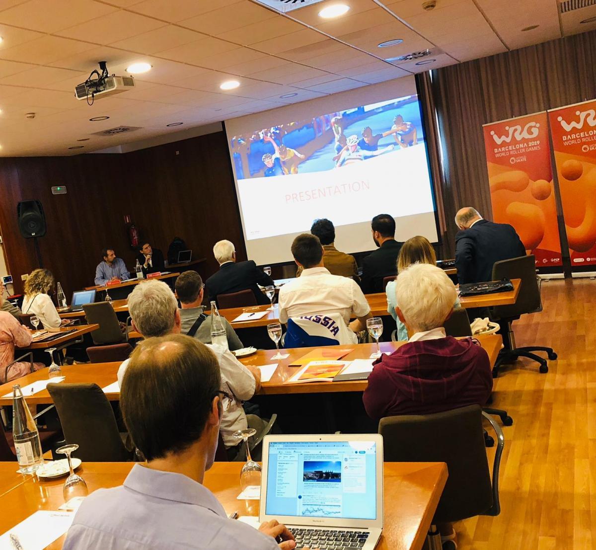 Delegados de 14 países visitan Barcelona para recibir información sobre los World Roller Games 2019