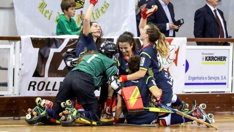 Póker histórico de las selecciones españolas de hockey patines en Europa