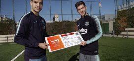 Sergi Roberto recibe la primera entrada para los World Roller Games 2019 en Barcelona