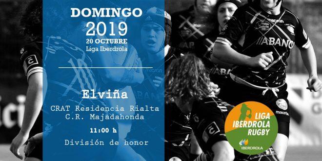 LIGA IBERDROLA RUGBYCRAT Residencia Rialta – C.R. Majadahonda  Domingo 20 de Outubre a las 11:00 H