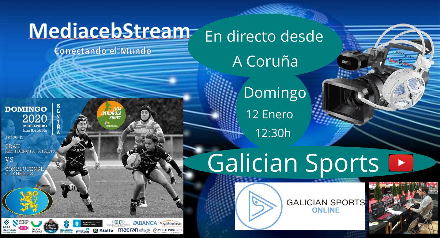 Liga Iberdrola de Rugby : CRAT Residencia RIALTA – C.R. Complutense Cisneros Domingo 12 Enero 12.30h