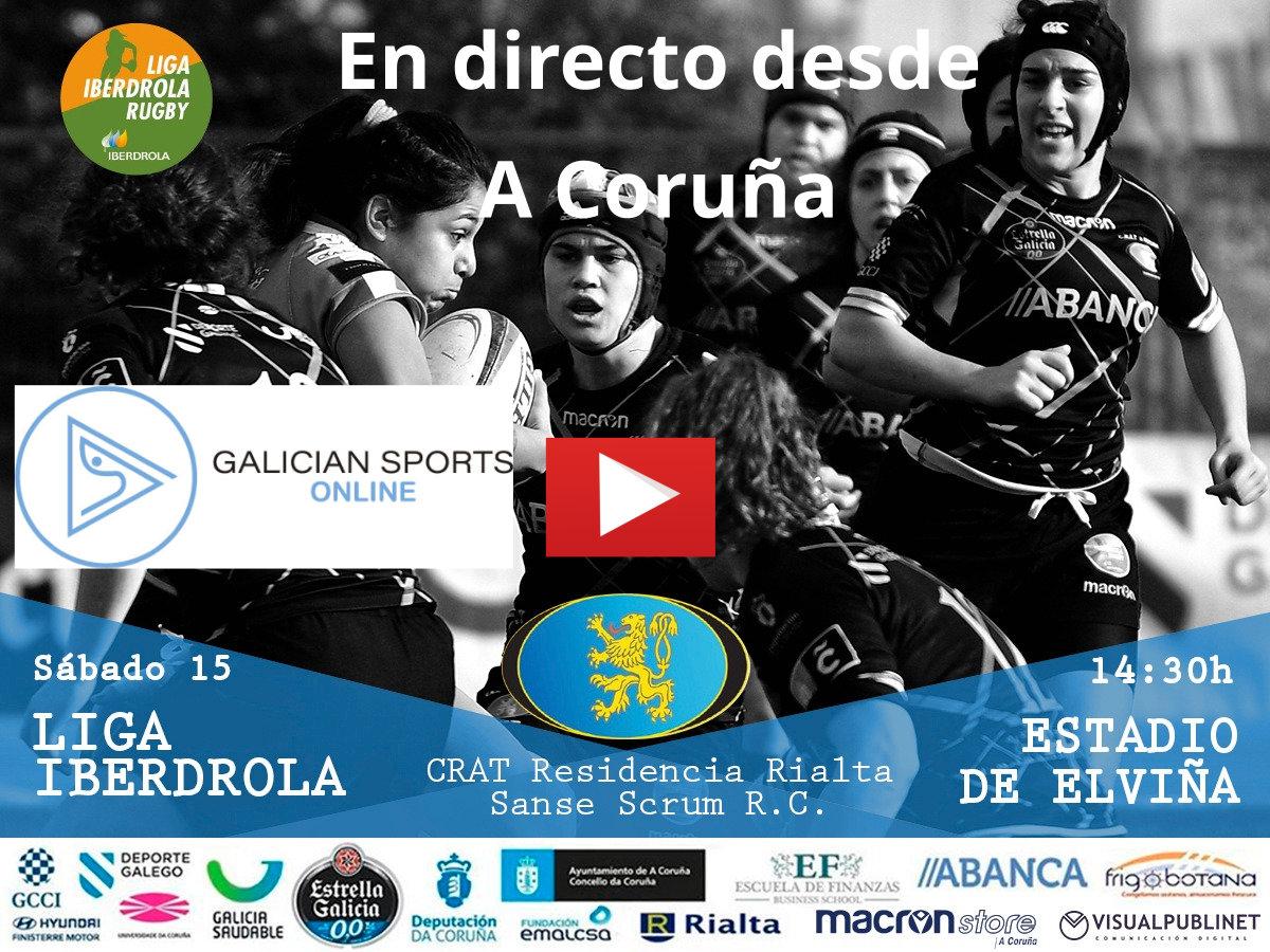 Liga Iberdrola de Rugby : CRAT Residencia RIALTA – Sanse Scrum RC