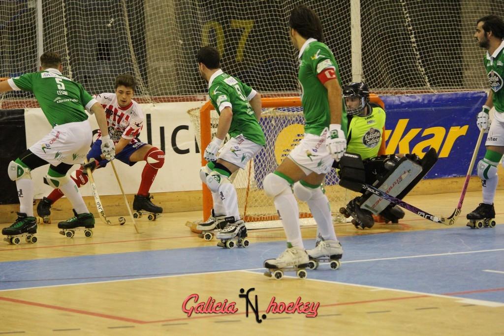 Resumen del partido de ok Liga entre el Hockey Club Liceo y Clube Patin Cerceda